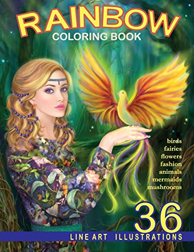 Rainbow. Line Art Coloring Book: Coloring Book for Adults von CreateSpace Independent Publishing Platform