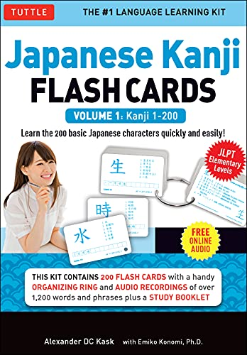 Japanese Kanji Flash Cards Kit Volume 1: Kanji 1-200: Jlpt Beginning Level: Learn 200 Japanese Characters Including Native Speaker Audio, Sample Sente von TUTTLE PUB