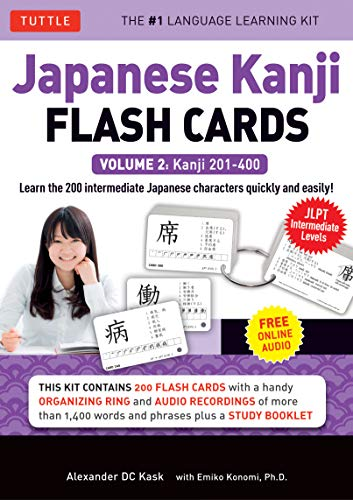 Japanese Kanji Flash Cards Kit Volume 2