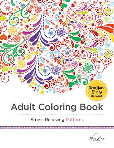 Adult Coloring Book: Stress Relieving Patterns von Blue Star Coloring