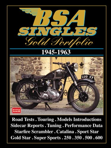 BSA Singles Gold Portfolio 1945-1963 von Brand: Brooklands Books