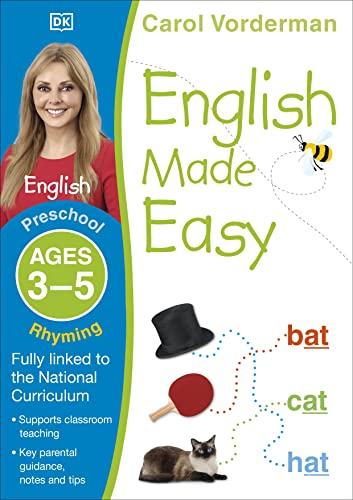 English Made Easy: Rhyming, Ages 5-6 (Preschool): Supports the National Curriculum, English Exercise Book (Made Easy Workbooks)