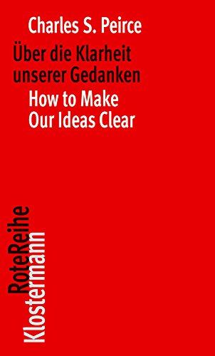Über die Klarheit unserer Gedanken / How to Make Our Ideas Clear (Klostermann RoteReihe, Band 101) von Klostermann, Vittorio