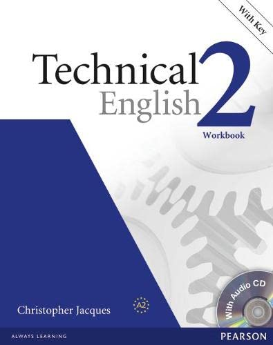 Technical English Level 2 Workbook with Key/CD Pack von Pearson