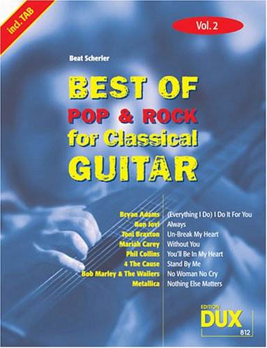 Best of Pop & Rock for Classical Guitar 2. Gitarre, Tabulatur