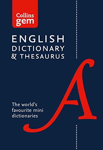 Collins English Gem Dictionary and Thesaurus: Two Books-in-One Mini Format (Collins Gem) von HarperCollins Publishers
