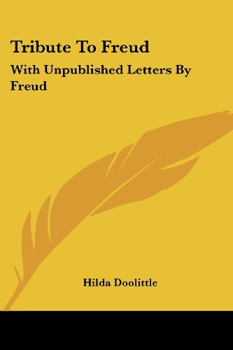 Tribute to Freud: With Unpublished Letters by Freud von Kessinger Pub Co