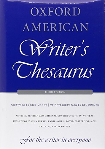 Oxford American Writer's Thesaurus von OXFORD UNIV PR