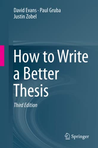 How to Write a Better Thesis von Springer, Berlin; Springer International Publishing