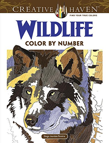 Creative Haven Wildlife Color by Number Coloring Book von Dover Publications