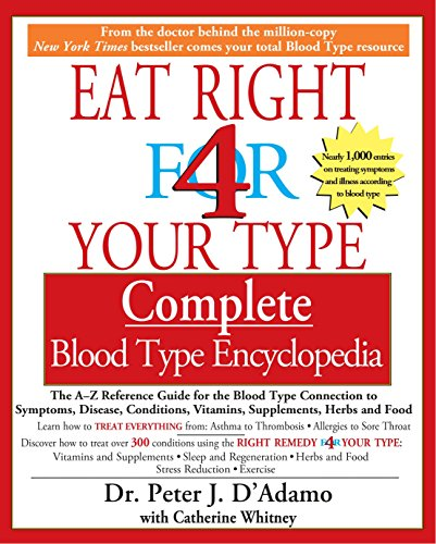 Eat Right 4 Your Type Complete Blood Type Encyclopedia: The A-Z Reference Guide for the Blood Type Connection to Sympoms, Disease, Conditions, Vitamins, Supplements, Herbs and Food von Berkley