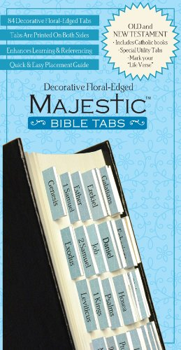 Majestic Floral-Edged Bible Tabs von Ingram International Inc