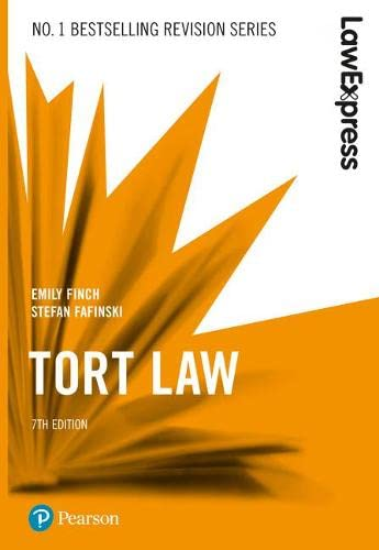 Law Express: Tort Law, 7th edition von Pearson Education Limited