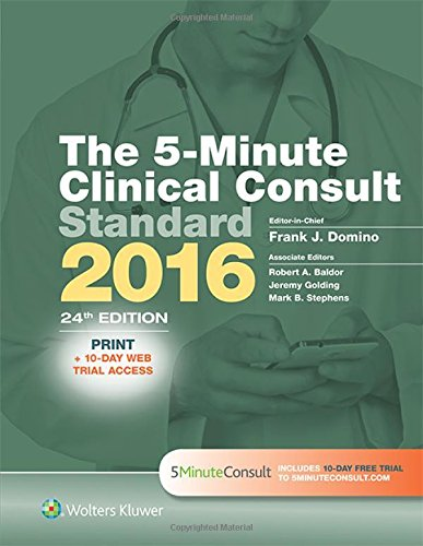 The 5-Minute Clinical Consult Standard 2016 von Lippincott Williams & Wilkins