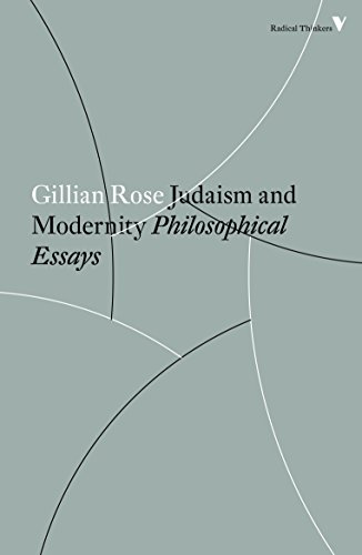 Judaism and Modernity: Philosophical Essays (Radical Thinkers) von Verso