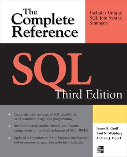 SQL the Complete Reference, 3rd Edition (Complete Reference Series)