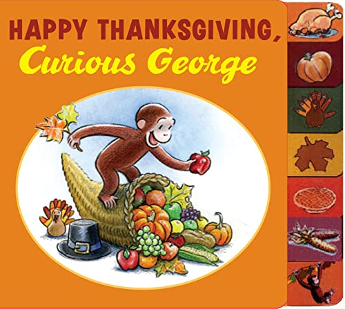 Happy Thanksgiving, Curious George tabbed board book