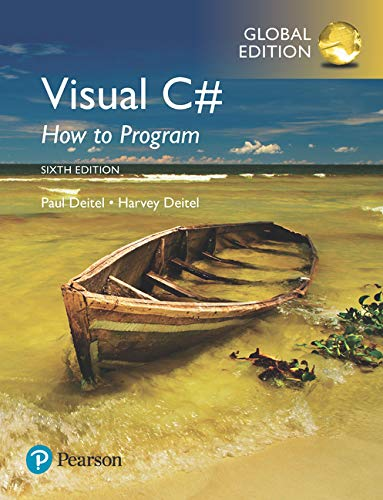 Visual C# How to Program, Global Edition (Pear06) von Pearson