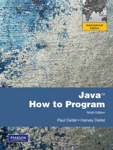 Java How to Program: International Version von Prentice Hall