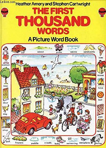 The First Thousand Words: A Picture Word Book (Usborne First 1000 Words) von Usborne Publishing Ltd