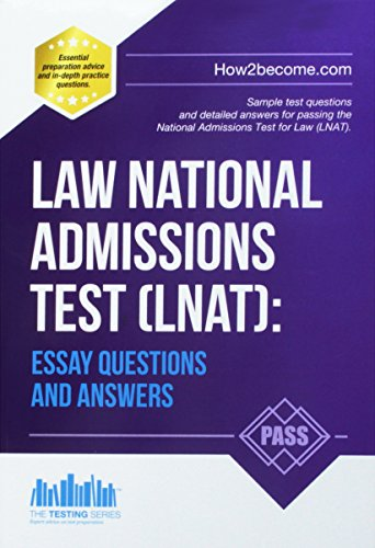 Law National Admissions Test (LNAT): Essay Questions and Answers (LNAT Revision Series) von How2Become Ltd