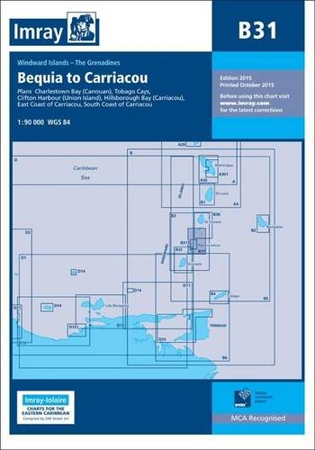 Imray Chart B31: Grenadines - Middle Sheet; Bequia to Carriacou (B Series, Band 31) von Imray, Laurie, Norie & Wilson Ltd