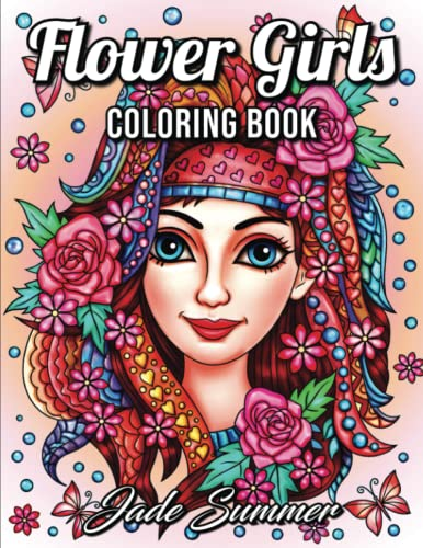 Flower Girls: An Adult Coloring Book with Cute Manga Girls, Fun Hair Styles, and Beautiful Floral Designs for Relaxation von CreateSpace Independent Publishing Platform