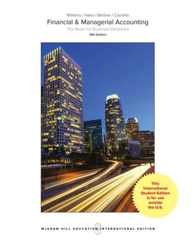 Williams: Financial and Managerial Accounting von McGraw-Hill Education Ltd