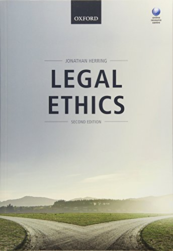 Legal Ethics von Oxford University Press