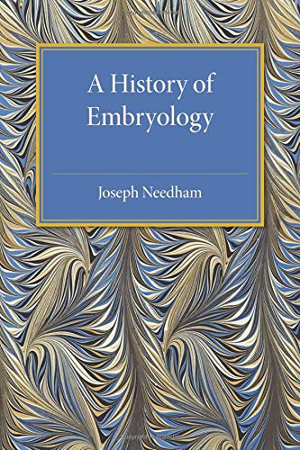 A History of Embryology von Cambridge University Press