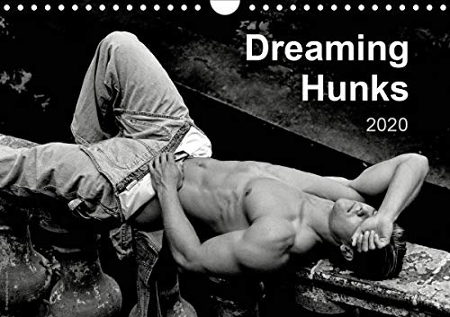 Dreaming Hunks 2020 (Wall Calendar 2020 DIN A4 Landscape): Handsome, dreaming and sleeping nude or semi-nude males featured in 12 black and white ... calendar, 14 pages ) (Calvendo People) von Calvendo