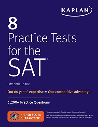 8 Practice Tests for the SAT: 1,200+ SAT Practice Questions (Kaplan Test Prep) von Kaplan Publishing
