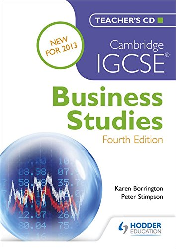 Cambridge IGCSE Business Studies 4th edition Teacher's CD von Hodder Education