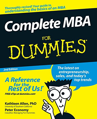 Complete MBA For Dummies 2e (For Dummies Series) von For Dummies