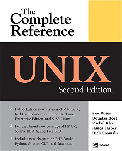 Unix: The Complete Reference, Second Edition (Complete Reference Series) von McGraw-Hill Education Ltd