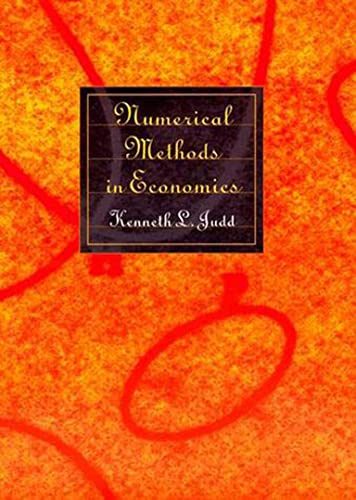 Numerical Methods in Economics (Mit Press) von MIT Press