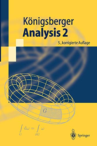 Analysis 2 (Springer-Lehrbuch) (German Edition) von Springer, Berlin