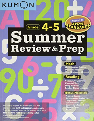 Summer Review and Prep 4-5 von Kumon Publishing North America, Inc