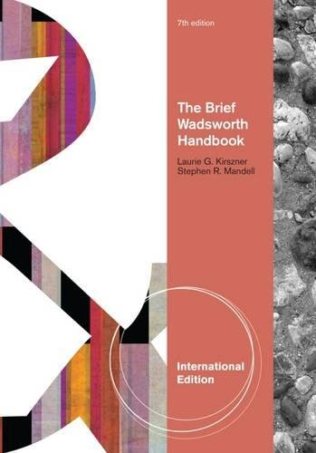 The Brief Wadsworth Handbook, International Edition von Wadsworth Publishing Co Inc