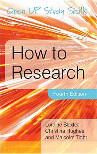 How To Research (Open Up Study Skills) von Open University Press