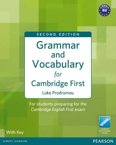 Grammar and Vocabulary For Cambridge First: For students preparing for the Cambridge English First von Pearson