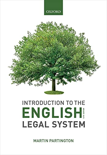 Introduction to the English Legal System 2019-2020 von Oxford University Press