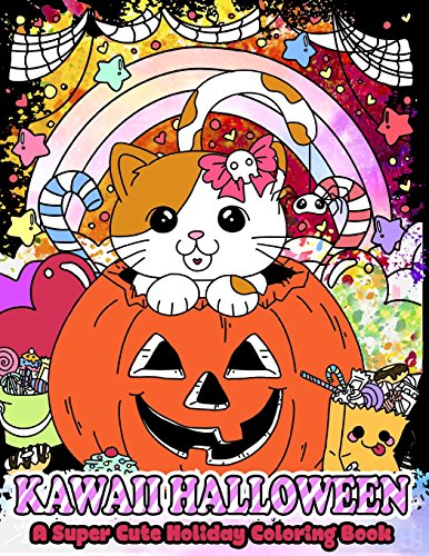 Kawaii Halloween: A Super Cute Holiday Coloring Book (Kawaii, Manga and Anime Coloring Books for Adults, Teens and Tweens, Band 5) von CreateSpace Independent Publishing Platform