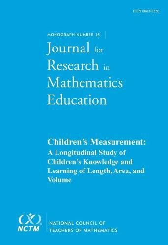 JRME Monograph 16: Children's Measurement von National Council of Teachers of Mathematics