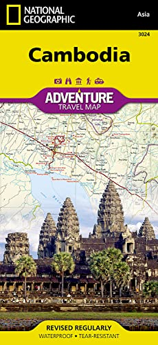 Cambodia (National Geographic Adventure Travel Map Asia, Band 3024)