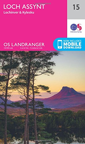 Loch Assynt, Lochinver & Kylesku 1 : 50 000 (OS Landranger Map, Band 15) von ORDNANCE SURVEY