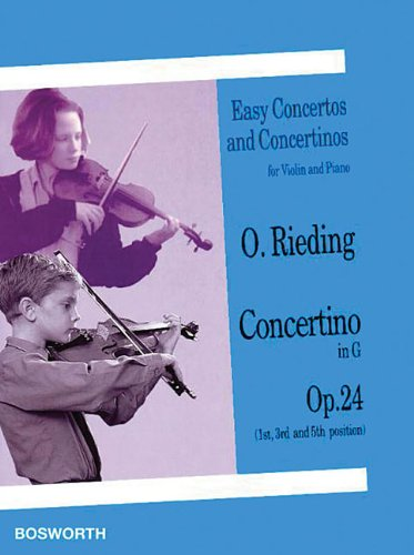 Concertino in G. Op. 24. Easy Concertos and Concertinos for Violin and Piano