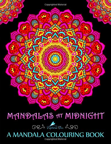 Mandalas At Midnight: A Mandala Colouring Book: Mandalas on Black Background Paper (UK Edition) von CreateSpace Independent Publishing Platform