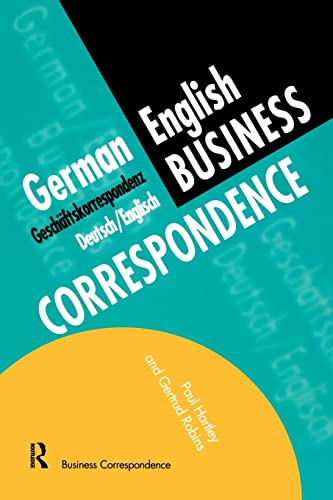 German/English Business Correspondence (Languages for Business)