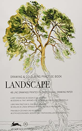 Landscape: Drawing & Colouring Practise Book (PEPIN Drawing & Colouring Practise Books) von Pepin Press